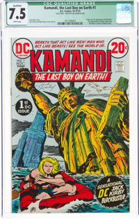 Kamandi, the Last Boy on Earth #1 (DC, 1972) CGC Qualified VF- 7.5 White pages