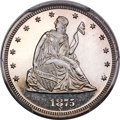Patterns, 1875 20C Twenty Cents, Judd-1407, Pollock-1550, Low R.6, PR65+ Cameo PCGS. CAC....