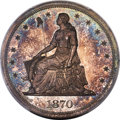 Patterns, 1870 $1 Dollar, Judd-1003, Pollock-1134, Low R.6, PR66 PCGS. CAC....