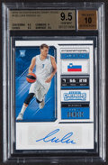Basketball Cards:Singles (1980-Now), 2018-19 Panini Contenders Draft Picks Autograph Luka Doncic #126 BGS Gem Mint 9.5, Auto 10....