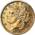 Patterns, 1878 $5 Half Eagle, Judd-1569, Pollock-1760, Low R.7, Gilt PR64 PCGS....