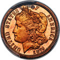 Patterns, 1879 10C Morgan Ten Cents, Judd-1589, Pollock-1782, Low R.7, PR67 Red Cameo PCGS....