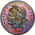 Patterns, 1879 $1 Goloid Metric Dollar, Judd-1628, Pollock-1824, Low R.7, PR67+ Red and Brown PCGS....