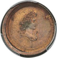 (1859) DT10C Ten Cent Die Trial, Judd-A1859-1, Pollock-3206, Unique, MS65 Red and Brown PCGS. CAC....(PCGS# 535083)
