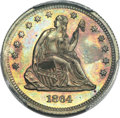Patterns, 1864 25C Quarter Dollar, Judd-385, Pollock-453, High R.7, PR66 Brown PCGS....