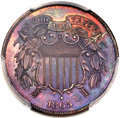 Patterns, 1865 2C Two Cents, Judd-407, Pollock-477, High R.7, PR62 P...