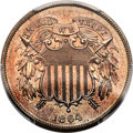 Patterns, 1864 2C Large Motto Two Cent, Judd-371, Pollock-440, Low R.6, PR66 Cameo PCGS. CAC...