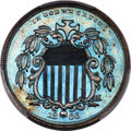 Patterns, 1866 5C Five Cents, Judd-490, Pollock-578, Low R.7, PR67+ Brown PCGS....
