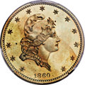 1860 P$5 Five Dollar, Judd-272, Pollock-320, Low R.6, PR63 Brown PCGS....(PCGS# 12078)