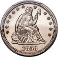 Patterns, 1858 P25C Quarter Dollar, Judd-221, Pollock-264, High R.7, PR66 PCGS. CAC...