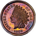 Patterns, 1859 DT1C Indian Cent, Judd-230, Pollock-274, Snow-PT1a, High R.7, PR65+ Brown PCGS. CAC...