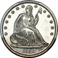 Patterns, 1839 P50C Seated Liberty Half Dollar, Judd-102 Restrike, Pollock-113, High R.7, PR66+ PCGS....