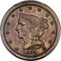 Patterns, 1854 DT1/2C Half Cent, Judd-155, Pollock-184, R.8, PR63 Brown PCGS....
