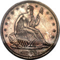 Patterns, 1838 P50C Seated Liberty Half Dollar, Judd-76a Restrike, Pollock-82, R.8, PR64+ PCGS. CAC....