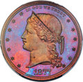 Patterns, 1877 $1 Dollar, Judd-1543, Pollock-1716, High R.7, PR65+ Red and Brown PCGS....