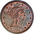 Patterns, 1839 P50C Half Dollar, Judd-98 Restrike, Pollock-108, High R.7, PR66 Red and Brown PCGS. CAC....