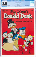 Silver Age (1956-1969):Cartoon Character, Four Color #379 Donald Duck - File Copy (Dell, 1952) CGC VF 8.0 Cream to off-white pages....