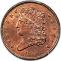 1834 1/2 C C-1, B-1, R.1, MS65 Red and Brown PCGS. CAC....(PCGS# 35286)