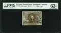 Fractional Currency:Second Issue, Fr. 1290 25¢ Second Issue PMG Choice Uncirculated 63 EPQ.. ...