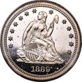 Patterns, 1869 25C Quarter Dollar, Judd-741, Pollock-822, Unique, PR64 Cameo PCGS....