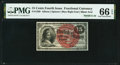 Fractional Currency:Fourth Issue, Fr. 1269 15¢ Fourth Issue PMG Gem Uncirculated 66 EPQ.. ...