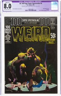 DC 100 Page Super Spectacular #4 Weird Mystery Tales (DC, 1971) CGC Apparent VF 8.0 Slight (B-1) Off-white to white page...