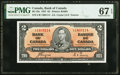 World Currency, Canada Bank of Canada $2 2.1.1937 Pick 59c BC-22c PMG Superb Gem Unc 67 EPQ.. ...