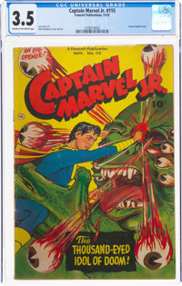 Captain Marvel Jr. #115 (Fawcett Publications, 1952) CGC VG- 3.5 Cream to off-white pages
