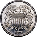 Patterns, 1870 2C Two Cent, Judd-791, Pollock-877, High R.7, PR66 Cameo PCGS. CAC....