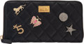 Luxury Accessories:Accessories, Chanel Black Quilted Aged Calfskin Leather Lucky Charms 2.55 Reissue Zip Wallet with Aged Gold Hardware. Condition: 1. ...