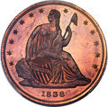 1838 P50C Seated Liberty Half Dollar, Judd-78 Restrike, Pollock-84, High R.7 PR66+ Red and Brown PCGS. CAC....(PCGS# 113...