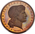 1882 $1 Shield Earring Dollar, Judd-1703, Pollock-1905, R.7, PR66+ Red and Brown PCGS. CAC....(PCGS# 72109)