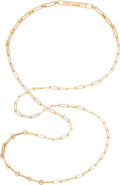 """Luxury Accessories:Accessories, Hermès 18K Yellow Gold & Diamond Kelly Chaine Double Tour Necklace. Condition: 1. 36"""" Length. ..."""