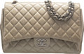 "Luxury Accessories:Bags, Chanel Beige Quilted Patent Leather Maxi Double Flap Bag with Silver Hardware. Condition: 3. 13"" Length x 9"" Height x ..."