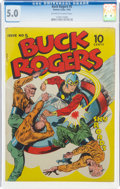Golden Age (1938-1955):Science Fiction, Buck Rogers #5 (Eastern Color, 1943) CGC VG/FN 5.0 Off-white to white pages....