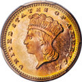 Gold Dollars, 1873 G$1 OPEN 3 MS68 PCGS. CAC. Ex: Duckor/Akers. ...