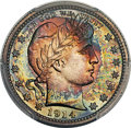 Proof Barber Quarters, 1914 25C PR68 Cameo PCGS. CAC. Ex: Simpson. Proof ...