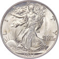 Walking Liberty Half Dollars, 1937-S 50C MS67 PCGS. Ex: Simpson. The 1937-S is a...