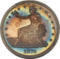 Proof Trade Dollars, 1876 T$1 Trade PR66+ Cameo PCGS. CAC. Ex: Simpson....
