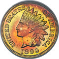 Proof Indian Cents, 1899 1C PR67 Red and Brown PCGS. CAC. Ex: Simpson....