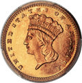 Gold Dollars, 1867 G$1 MS67 PCGS. Ex: Simpson. The 1867 gold dol...