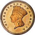 Gold Dollars, 1860 G$1 MS67 PCGS. Ex: Simpson. The 1860 gold dol...