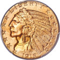 Indian Half Eagles, 1915-S $5 MS64+ PCGS. CAC....