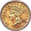 Gold Dollars, 1887 G$1 MS67+ PCGS. The 1887 gold dollar claims a...