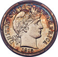 Proof Barber Dimes, 1915 10C PR66+ Cameo PCGS. Ex: Simpson. Proof Barb...