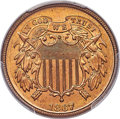 Two Cent Pieces, 1867 2C MS65+ Red PCGS. Ex: Simpson. The 1867 two ...