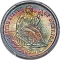 Seated Dimes, 1874 10C Arrows MS67+ PCGS. CAC. Fortin-Unlisted. ...