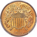 Two Cent Pieces, 1871 2C MS65+ Red PCGS. Ex: Simpson. The 1871 repr...