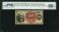 Fractional Currency:Fourth Issue, Fr. 1301 25¢ Fourth Issue PMG Gem Uncirculated 66 EPQ.. ...