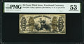 Fractional Currency:Third Issue, Fr. 1348 50¢ Third Issue Justice PMG About Uncirculated 53.. ...